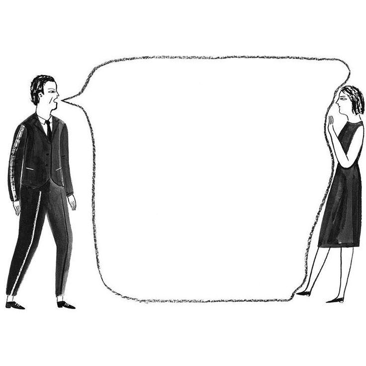 Explaining Mansplaining.  Illustration by @kayeblegvad