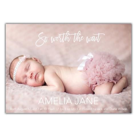 186 best Birth Announcements images on Pinterest - Baby Girl Birth Announcements