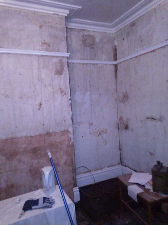 22.)  Aside from the hallway wall which physically ripples when you touch it, the rest of the walls don't seem horrendous & I still can't decide whether to scrap the picture rail or not - I like it & it definitely serves to break up the tall walls...just not sure how it will work with more contemporary wallpaper / decor...