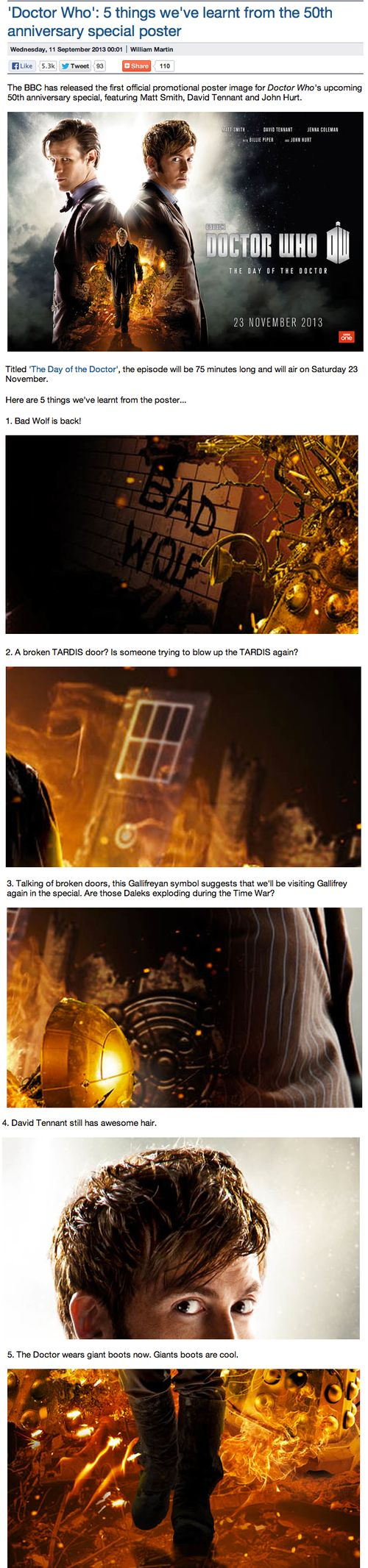 """5 Things We've Learnt From the 50th Anniversary Special Poster"""