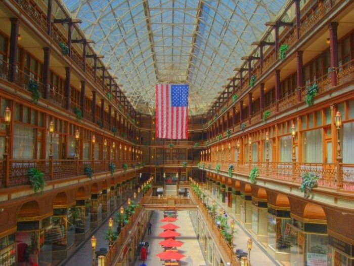 (12 places in Ohio that you must stay)  1) Hyatt Regency Cleveland at The Arcade
