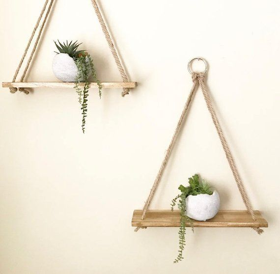 Hanging shelves, Planter, Handmade, Wall Decor, Rustic Shelves, Wall Planter, Shelves, Bathroom Shelves, Wall Shelves, Home Decor, Gift