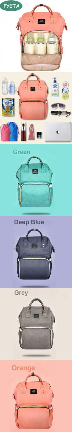 Landuo Fashion Mummy Maternity Nappy Bag Brand Large Capacity Baby Bag Travel Backpack Desiger Nursing Bag for Baby Care $59.9