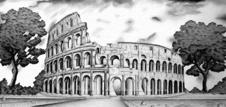 Rappresentazione su tela del Colosseo di Roma, dimensioni reali di 200x100 cm, a carboncino.  http://www.cs4rt.com/portfolio #disegno #colosseo #roma #draw #disegnoSuTela #disegnoAMano #carboncino #tela