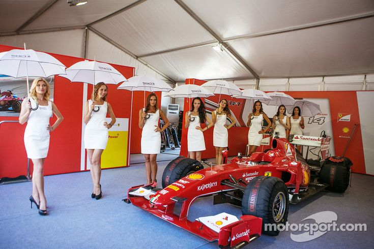 Lovely Sochi girls at Moscow City Racing - Formula 1 Photos