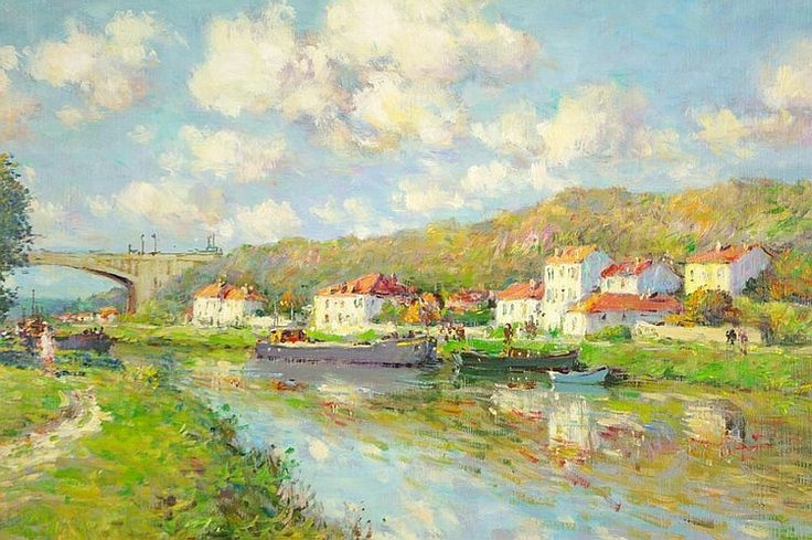 Jean Kevorkian, French, Muret Sur Loing, oil on canvas, 24 x 29