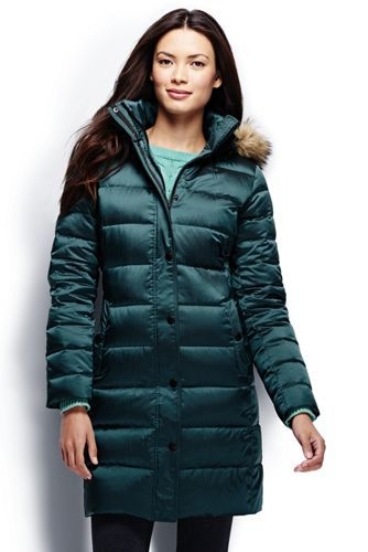 Women's Shimmer Down Coat from Lands' End