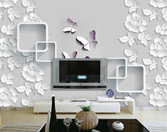 3D Flower A757 Removable Wallpaper Self Adhesive Wallpaper Extra Large Peel /& Stick Wallpaper Wallpaper Mural AJ WALLPAPERSS