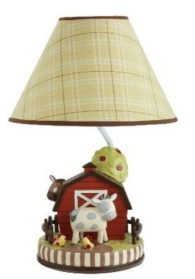 Have one to sell? Sell it yourself Kids Line Animal Acres Nursery Lamp Base and Shade Barnyard Cows and Chickens $56.95