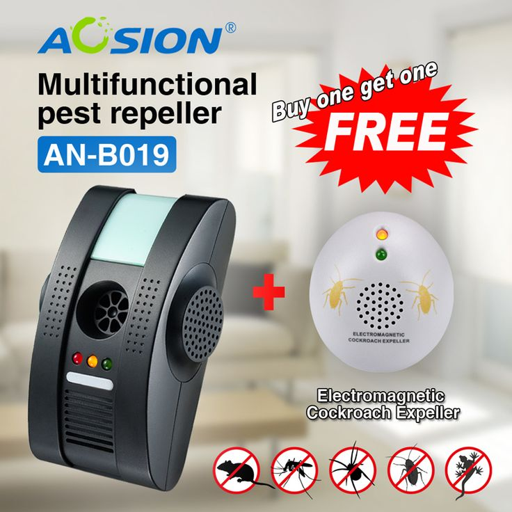 Buy Ultrasonic Electromagnetic Anion pest mouse rat fly repeller pest reject control ( Got cockroach repeller free)
