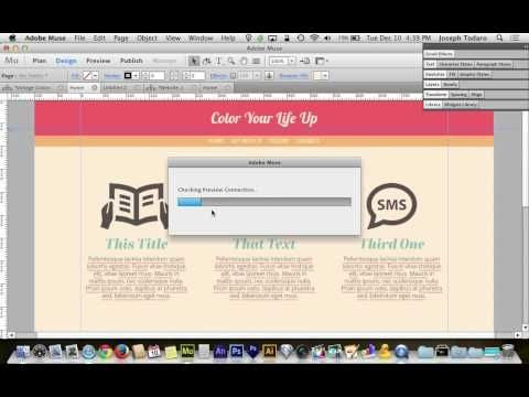 ▶ Adobe Muse CC 7.0 Tutorial   Color Your Life Up - YouTube