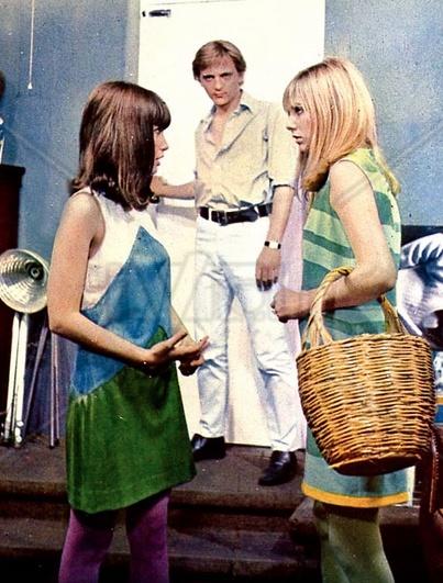 """Blow Up""- Gillian Hills, Michelangelo Antonioni and Jane Birkin, 1966"