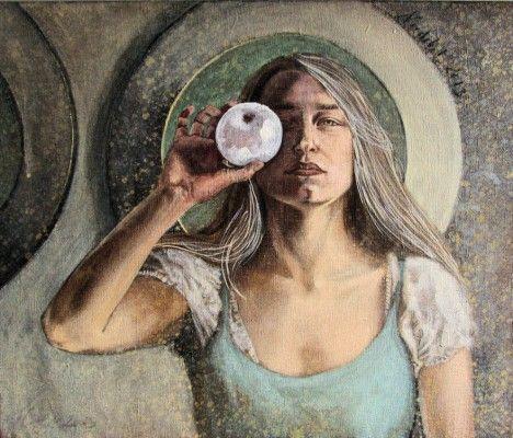 Kotkowska // Portret z jabłkiem