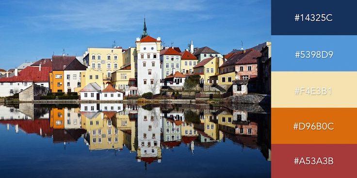 Beautiful color combinations, schemes and palettes - Czech Architecture