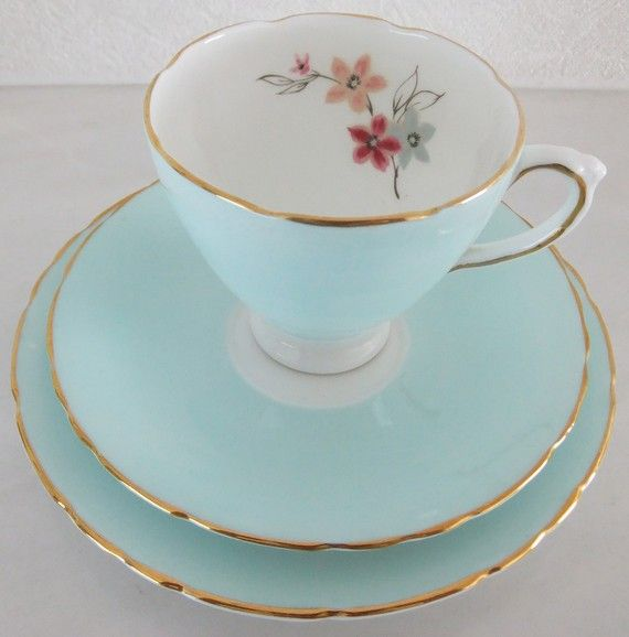 Vintage Delphine Bone China Tea Set.
