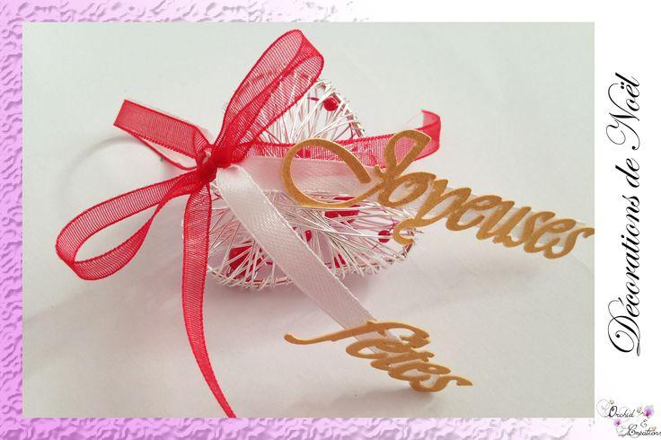 Décoration de Noël: Cœur à suspendre. Choisissez votre message et vos couleurs