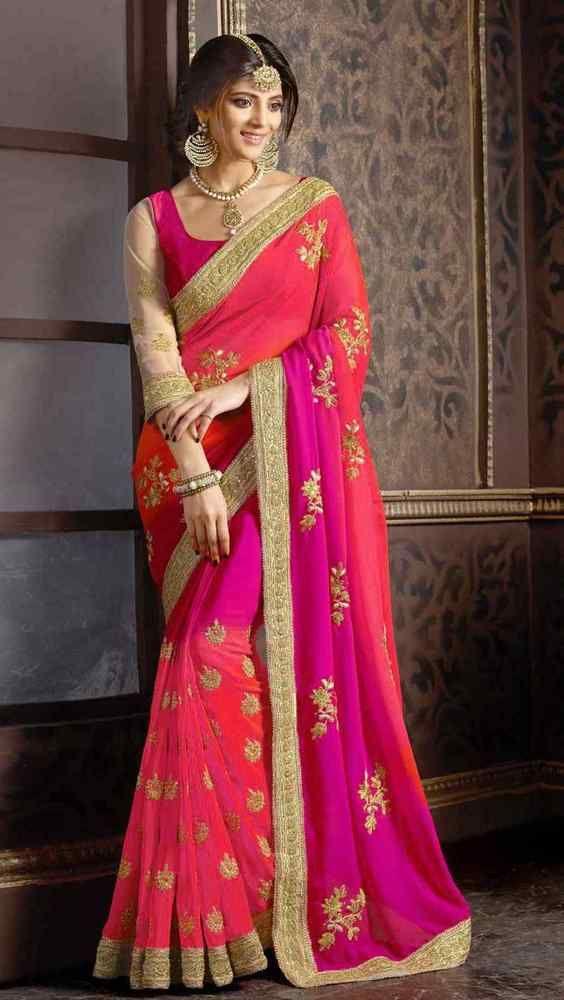BOLLYWOOD WEDDING PARTY WEAR PAKISTANI SARI TRADITIONAL INDIAN DESIGNER SAREE
