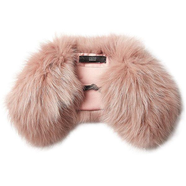 Steffen Schraut Fox Fur Scarf ($245) ❤ liked on Polyvore featuring accessories, scarves, rose, steffen schraut, fox fur shawl, pink scarves, pink shawl and fox fur scarves