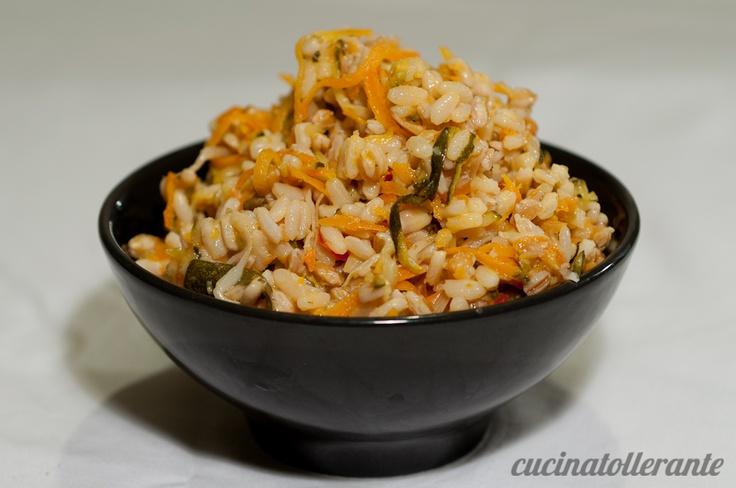 Orzo, #farro e riso con verdure saltate e germogli di soia! #benessere #recipe