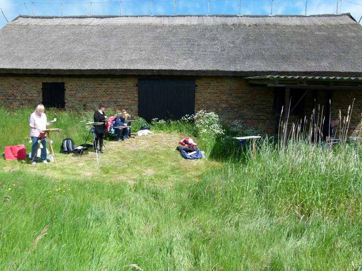 Impressionen von der Malreise nach Rügen | Malkurs auf den Boddenwiesen von Middelhagen (c) FRank Koebsch (3)