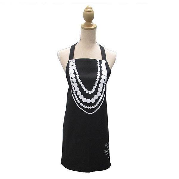 Linens & More Coco Chanel Pearls Apron | Koop.co.nz
