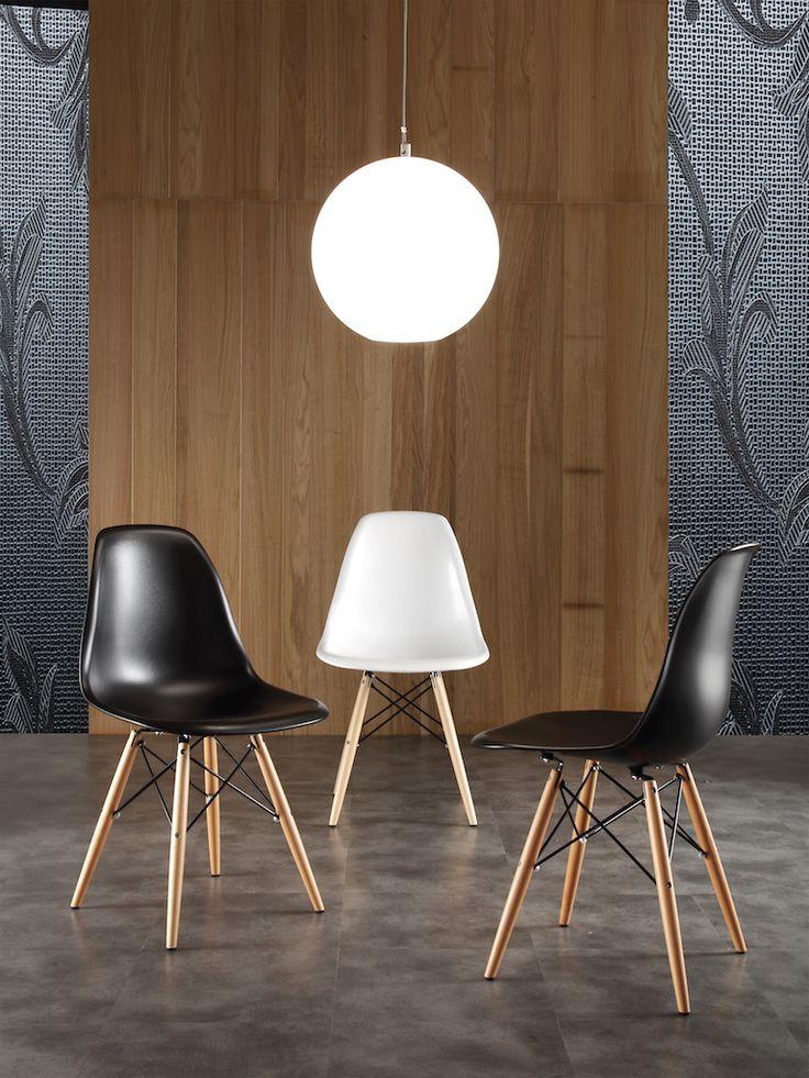 Sedia dal design moderno e ricercato struttura in legno di faggio e metallo molto