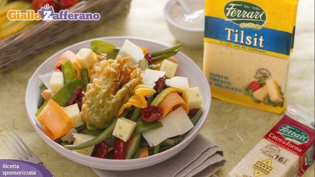 Insalata verdure e formaggi