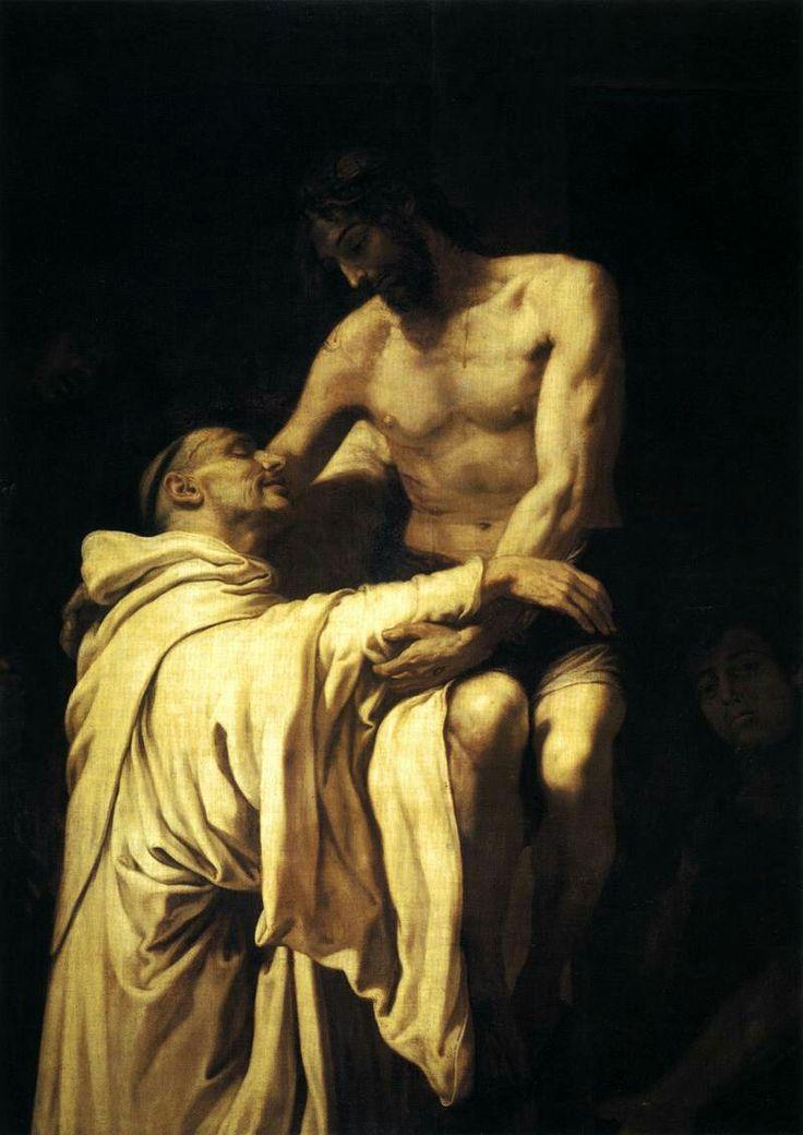 Christ Embracing St Bernard by Francisco Ribalta