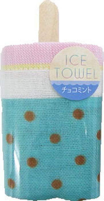 見た目の可愛いアイス型のガーゼタオルです。。アイスキャンディー タオル 1枚 34×35cm 日本製 2重ガーゼ ( ウォッシュタオル ハンドタオル アイス ダブルガーゼ )