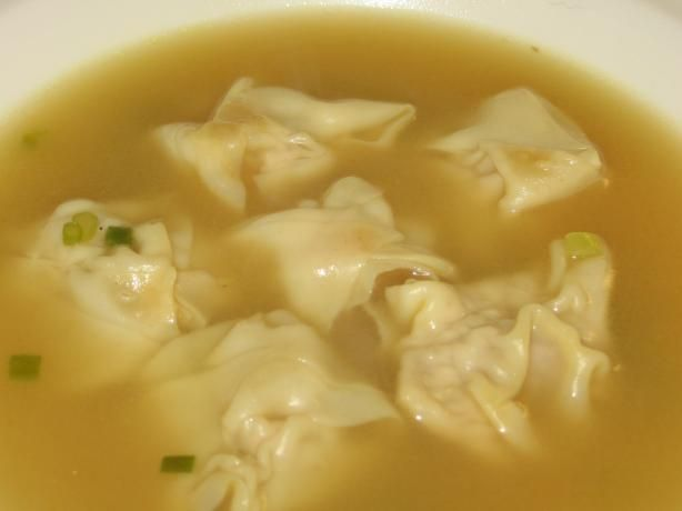 Simple Won Ton Soup:   A simple broth loaded with delicious won tons. Why order out when you can easily do it yourself?  Sorry, I guessed at the weight of the won ton package.