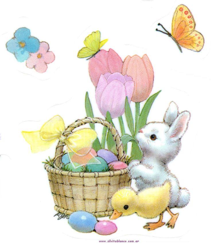 Открытка пасхальный заяц, именем вика днем