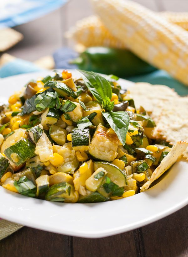 Roasted Corn and Zucchini Salsa Recipe from NeighborFoodBlog.com