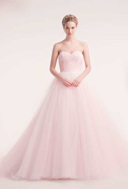 25  best ideas about Light pink wedding dress on Pinterest | Tulle ...