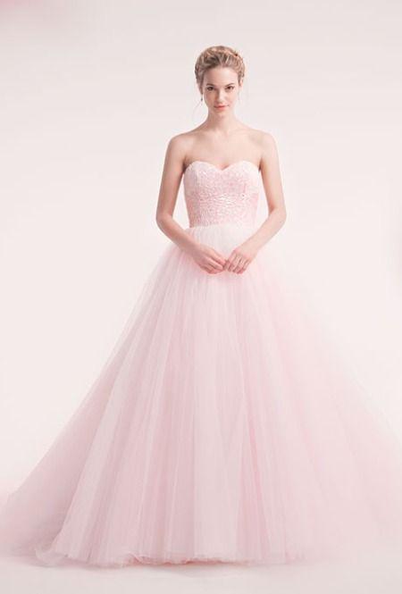 17 Best ideas about Pink Wedding Gowns on Pinterest | Wedding gown ...