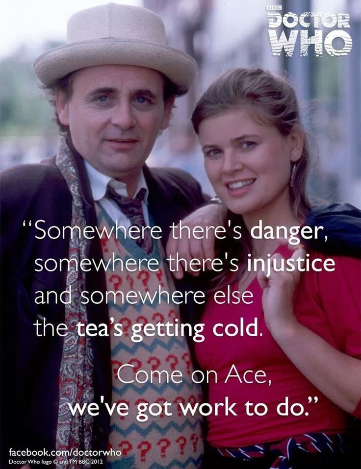 Seventh Doctor - the ever lovable Sylvester McCoy. I think I might be falling for the seventh.