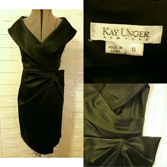 FINAL! Madmen Amazing Dress Gorgeous drape detail with flattering neckline. Hint of madmen! High end and very well made dress. * measurements available upon request *item will be taken off end of June, relisted higher at a later date*** FIRM PRICE Kay Unger Dresses