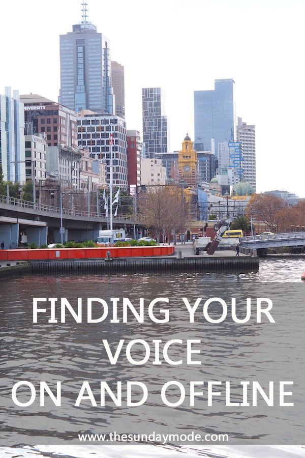 Finding Your Voice On And Offline | www.thesundaymode.com