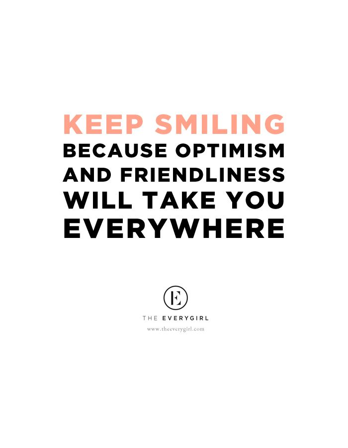 """keep smiling because optimism and friendliness will take you everywhere"" // #heardontheeverygirl // Stacy Adimando, Food Editor of Every Day with Rachael Ray"