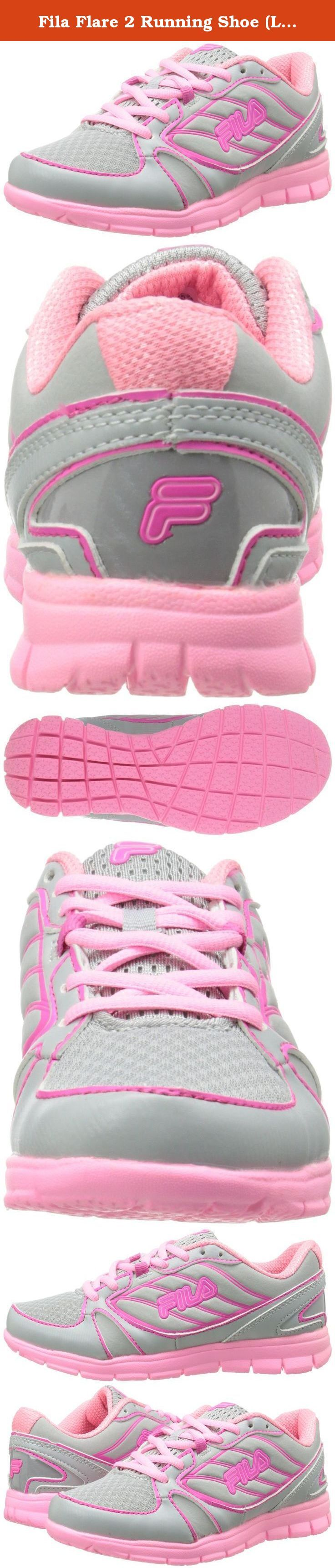 Fila Flare 2 Running Shoe (Little Kid/Big Kid), Hiris/Pink Glow/Cotton Candle, 2 M US Little Kid.