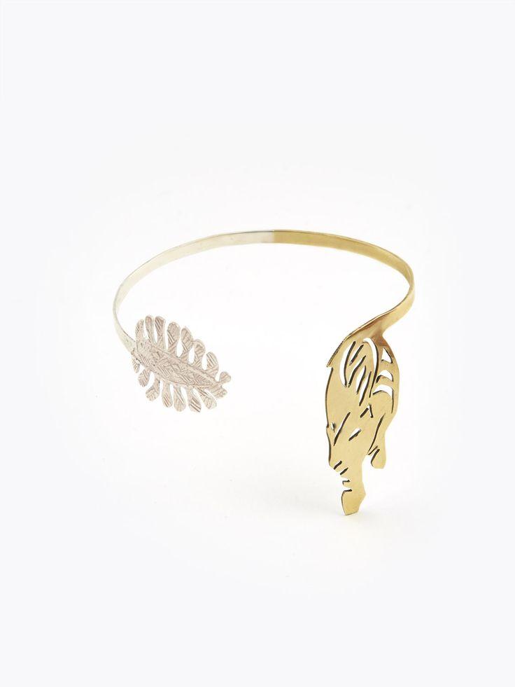 bracelet le tigre du douanier en argent et bronze