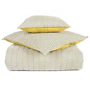 Couvre-lit boutis coton imprimé Timiki Absinthe Harmony