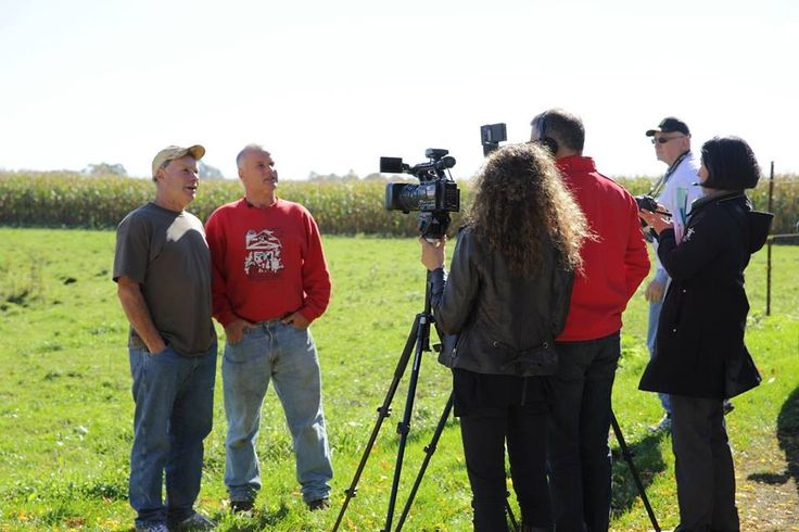 Against a backdrop of corn fields, Ron & Keith told press and Members of Parliament how their parents bought their farm in the Fifties, only to be expropriated by the federal government in 1972. Copyright © Shelly Kowalski 2013 | All Rights Reserved