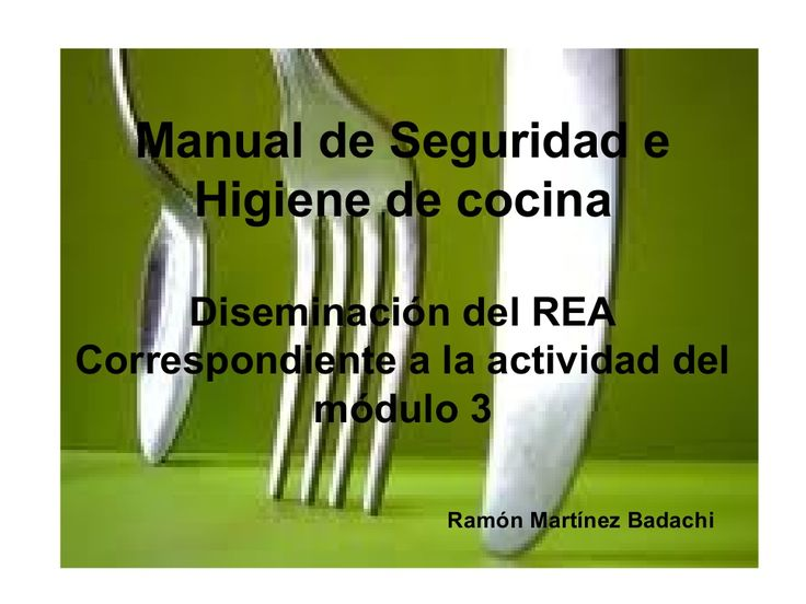 Manual de seguridad e higiene de cocina by rmbmexico via for Manual de cocina industrial