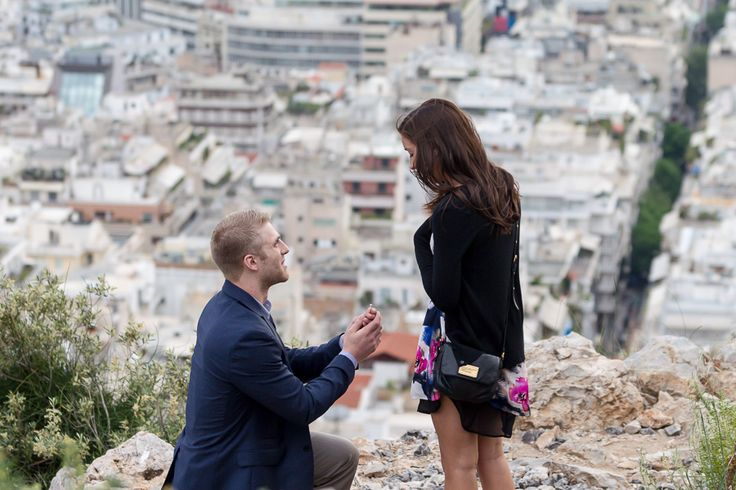 Surprise proposal Athens Greece