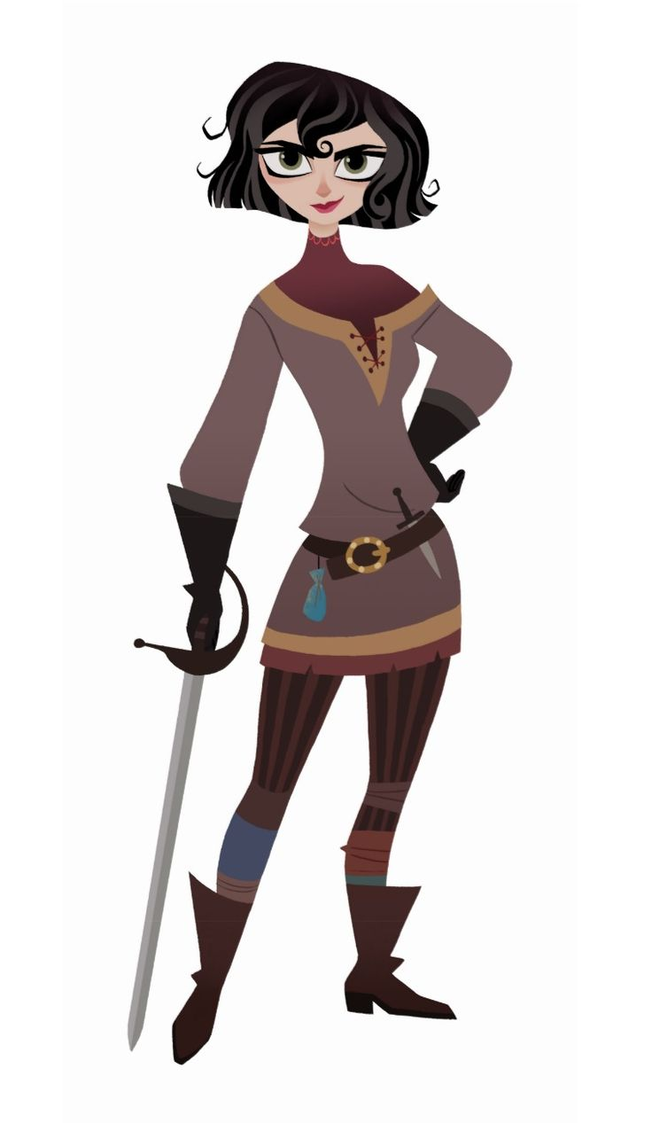 Cassandra is a major character in Tangled: Before Ever After and its follow-up series. She is Rapunzel's handmaiden and close friend. Cassandra never knew her parents and was adopted and raised as the daughter of Corona's Captain of the Guards. She is a skilled fighter who dreams of joining the royal guard, though she currently — and contently — serves as Rapunzel's lady-in-waiting and closest confidante, alongside the princess' pet chameleon Pascal. Her role generally require...