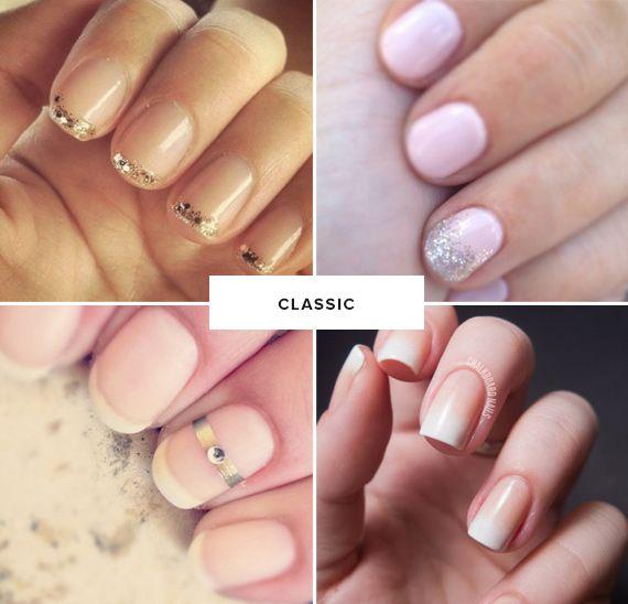 classic wedding day manicure ideas with a fun twist