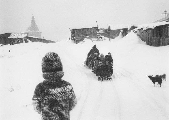 Pentti Sammallahti Solovki, White Sea, Russia (dogs and children), 1992 Inquire