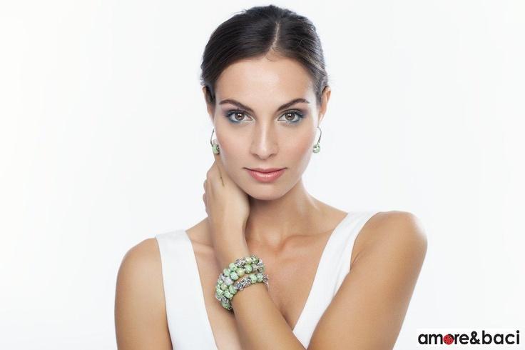 Amore & Baci 2013 campaign - GREEN beads, bracelets & earrings