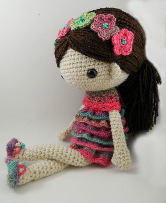 Claudia Amigurumi Doll Crochet Pattern Pdf от Carmenrent на Etsy