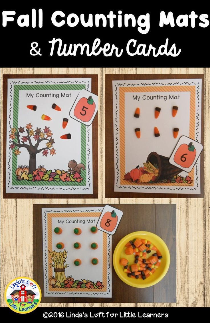 Practice counting and number recognition with these Fall Counting Mats and Number Flashcards. Preschoolers will create sets on the mats to match a given number. Little ones can use manipulatives or the printable counters that are provided.